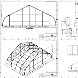 Engineering drawings | tensioned fabric structures