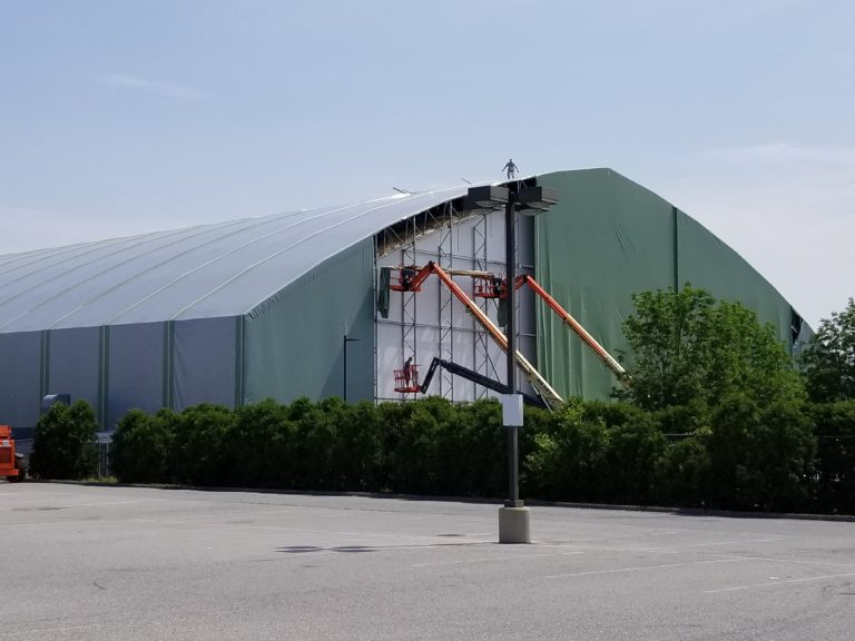 Reskin in Process at Eagles Facility