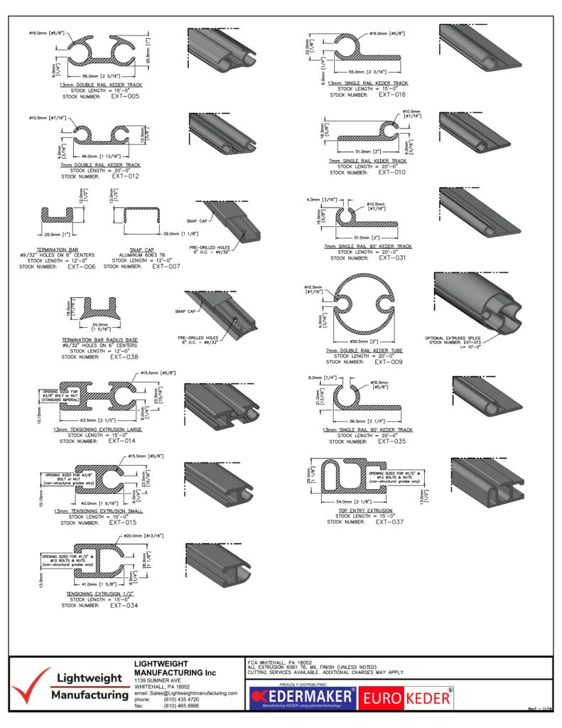 Keder Rail | Keder Track | Aluminum Extrusion
