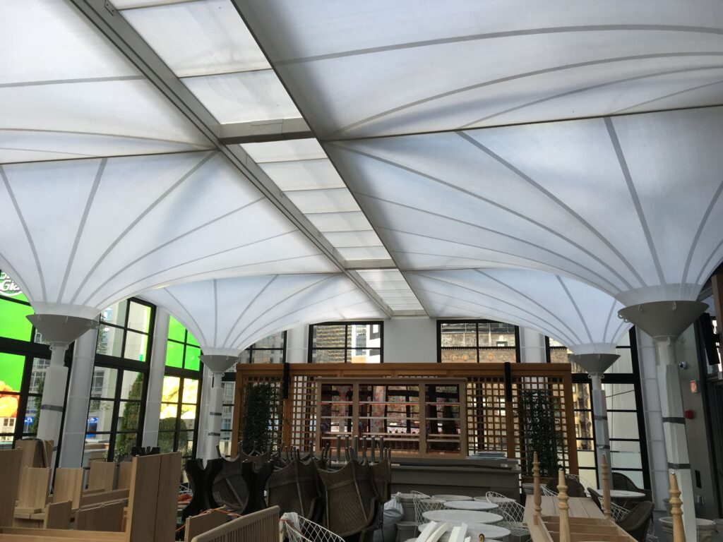 TENARA Fabric Canopy Interior View, It allows light to come through